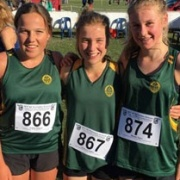 Libby Abbott (left), Rebecca Baker & Renee Teers ran their hearts out for WHS at the NZSS Cross Country in Christchurch. Rebecca Baker got 4th in NZ in the Jun Girls race! July 2017.