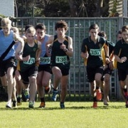 WHS got to sweep the board in the senior version of the boys race with Liam Jones, Connor Munro & Travis Bayler taking the podium spots, WSS Cross Country, 25/5/17.