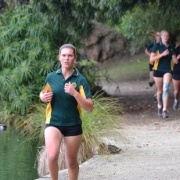 Emma Rainey claimed the U19 girls race at the annual WHS Cross Country at the new venue Virginia Lake, Chronicle 19/5/16.