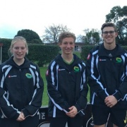Whanganui players, all students from WHS, selected to play for the Central teams at the National U18 tourn. Emma Rainey, left, Joanna Bell, Jordan Cohen, Joseph Redpath & Ryan Gray, Chron 18/7/16.