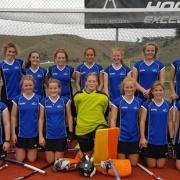 6 students Wanganui U18 Hockey team 2016: Jessica Watkin (back 2nd fm right), Meghan Price (back right); Olivia Smith (front left), Joanna Bell (goalie), Rebecca Baker (front 2nd fm right), Jacinta Manville (front right), May 2016.