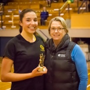 MVP:  WHS goal defence Kahurangi Sturmey - Most Valuable Player honours in the Premier netball final, August 2016.