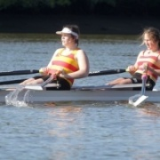 JESSICA BROUGHAM & KAYLA SPENCER completed a stunning summer on the water with GOLD in the girls U-18 double sculls at the 2015 Maadi Cup at Lake Karapiro.