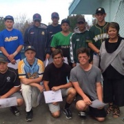 Boys Softball team competing in the NZ Div 1 NISS Softball Nationals in Hastings, April 2016.