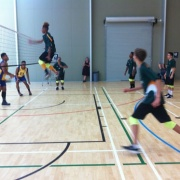 Judah faking at the NSS Volleyball Champs, Palmerston North, 26 > 31 March 2017.