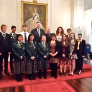 WHS recipients of 2014 GOLD Duke of Edinburgh Awards at Government House.