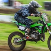 JAXON WATT is 1st overall 12-16 year 85cc class leading into 5th & final round, Winter Series Jnr MX Academy, Aug 2017.