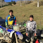 Brothers Riki & Joe Wainhouse (WHS student) fin 3th & 4th in their respective Jnr grades after 4th & final round Central X-Country Series at Tinui, Chron 15/6/16.
