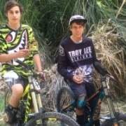 WHS student TYLER SMITH (left) fin 4th overall in his grade at Nth Is Downhill Champs final round in Warkworth, Dec 2015.