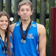 ALEX FORLONG & MICHAEL HIROTI flew the flag for the Whanganui Swim team at the NZ Div 2 comp in Rotorua, March 2017.