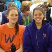 Past & present students Grace Hogan (left) & Alex Forlong had solid performances at the NZ Nat Div 2 meet in Invercargill, March 2016.