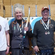 WHS student LIONEL TREWEEK (left) with his medal at NZ Nationals, Palmerston Nth. Lionel came 5th Jnr boy's recurve & won BRONZE in the match play, Chron 26/8/16.
