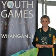 BLAKE SHERMAN, WINNER of the golfing module (nett) at the inaugural Whanganui Youth Games, June 2017.