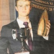 Whanganui judo exponent & former student FINN BROWN named Manawatu Campus Sportsman of the Year, Chron 19/10/17.