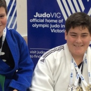 Whanganui brothers Callaghan & KEIGHTLEY WATSON (right) are GOLDEN BOYS of Open Int Judo Comp. KEIGHTLEY won GOLD in Cadet plus 90kg grade & went on to take GOLD in the Young Men's plus 100kg div, Chron 16/8/16.