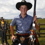 BRADLEY McDOWELL WINS Junior & Overall titles at the NZ Cowboy Action Shooting Champs, Nov 2017.