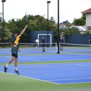 WHS students playing at the Wanganui Tennis Club.