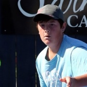 SAM RUSSELL of WHS took out Secondary School Boys' title at the Wanganui Tennis Club's Jnr Champs, March 2015.
