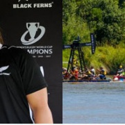 Sosoli Talawadua (nee Tofa) returned to her hometown with Black Fern teammate Toka Natua to be auctioned off at annual charity event, Whanganui's River Raft Race & lend their strength to a team, Chronicle 19/2/18.