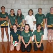 Junior B Girls Volleyball Team - Whanganui schools comp at Jubilee Stadium, 4/4/18.