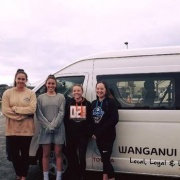 Five of the six-strong Toyota Whanganui Swim team before heading to the New Zealand Short Course Swimming Championships last week.