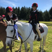 Jaime Hogg on Step It Up; 2nd in the Equitation round in her Category; NI Showhunter Team Champs in Foxton 28-30 September 2018.