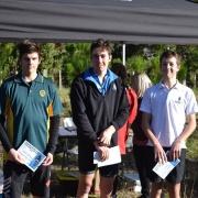 Yr 11-13 Boys: James Rountree (left) - 2nd; WSS Mountain Bike Champs at Pauri Lake MTB Course, Kaitoke 22/6/18.