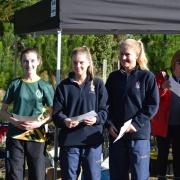 Yr 9-10 Girls: Ashlea Hale (left) - 3rd; WSS Mountain Bike Champs at Pauri Lake MTB Course, Kaitoke 22/6/18.