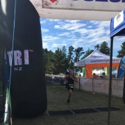 Libby Abbott finishing 21st in her grade at the NZSS Triathlon, March 2018.