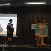 Nani Di being presented with her Leavers Certificate!