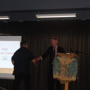 Tumuaki about to deliver his Mihi.