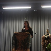 Past head girl Leigh Marama Mclachlan giving a thought provoking speech about her time at WHS & her experience being Māori.