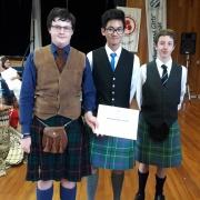 SCOTLAND: WINNER - Best Dressed - Angus Pitkethley, Isaiah Tubayan, Ciaran Mee.