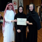 UNITED ARAB EMIRATES: WINNER - BEST DELEGATION - Calum Sinclair, Toni Adams, Laura Mackintosh.