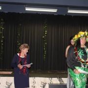 JASMIN BEARD accepting Outstanding Contribution to Pasifika - Senior