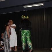 MISTY TUTAKI accepting Outstanding Contribution to Pasifika - Senior