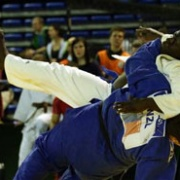 Teenage Whanganui Judo prodigy KEIGHTLEY WATSON decks an opponent on his way to GOLD at the Matsuru Dutch Open Espoir in Holland in the plus 90kg under 18 division, Chronicle 17/1/18.