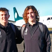 Jack Clifton & Liam Lace flew out of Whanganui to connect with their AK Airport flight to the Northern Hemisphere for the 2018 ICF Canoe Sprint Jnr & U23 World Champs, Chronicle 7/7/18.