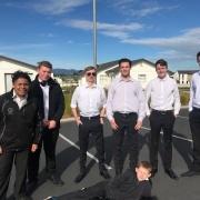 2018 NZSS National 8-Ball Champs in Hamilton 7/9/18.  L>R: Kaleb-Lee Taylor, Sean Tighe, Brandon Kidd, Ethan Scott, Owen Parkinson, Ben Fantham and in front Benji Kidd.