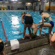 WHS Girls game 3rd at the WSS Lifesaving Champs, 2/3/18.  Great display of Lifesaving from WHS.