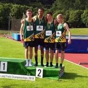 JUNIOR BOYS 4x400m relay teams - SILVER