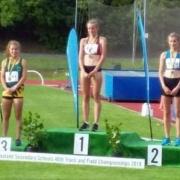 REBECCA BAKER (left) - BRONZE in 3000m & SILVER in 1500m Senior Girls!