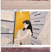 Victoria Whibley, Tiana Absolum & Mikayla Baldwin's Art work.