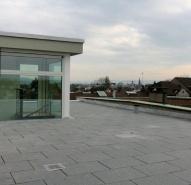 Dachterrase mit Blick über Basel