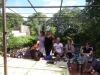 On top terrace Tour 2014 with Amanda