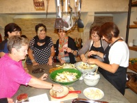 Tour girls involved in cooking demo by Joanne