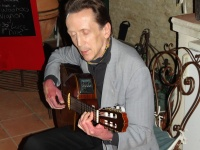 Michel Eliard entertaining with his fabulous classical guitar