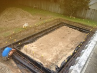 Boat shed foundations