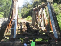 Railway tracks removed from Waitekauri Bridge.