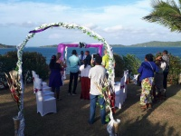 Marrying in front of the Pacific Ocean & Nananu I Ra Island, which means 'Daydream of the West', the Villa is a stunning Fiji wedding location.